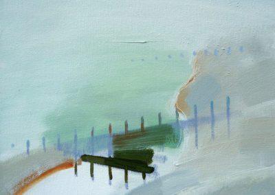 Beach Reflections.  Oil on canvas 40x40cms