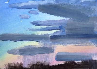 Evening Sky  Oil on canvas   30x25cms