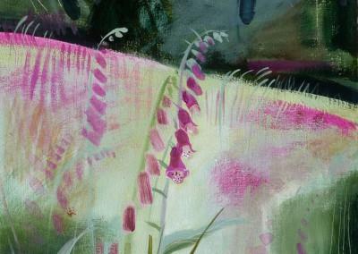 Foxglove Wood  Oil on canvas  70x40cms