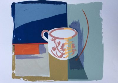 The Pink Lustre Mug.  Screen print. Edition of 14.  22x25cms