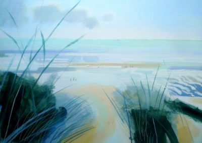 Bright Morning, Camber.  Oil on canvas. 30x41cms