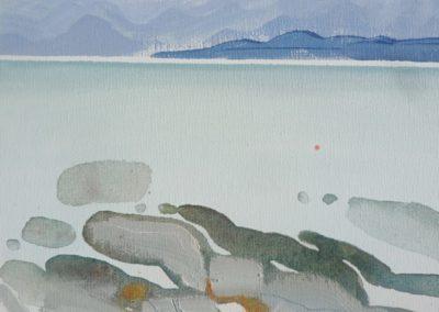 Calm Sea and Rocks II.  Oil on canvas.  20x25cms